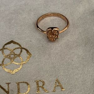 kendra Scott Rose Gold Druzy Ring